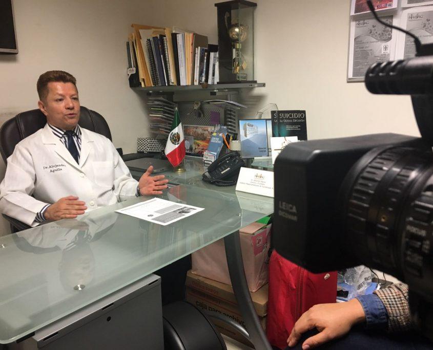 Entrevista canal 22 prevencion del suicidio