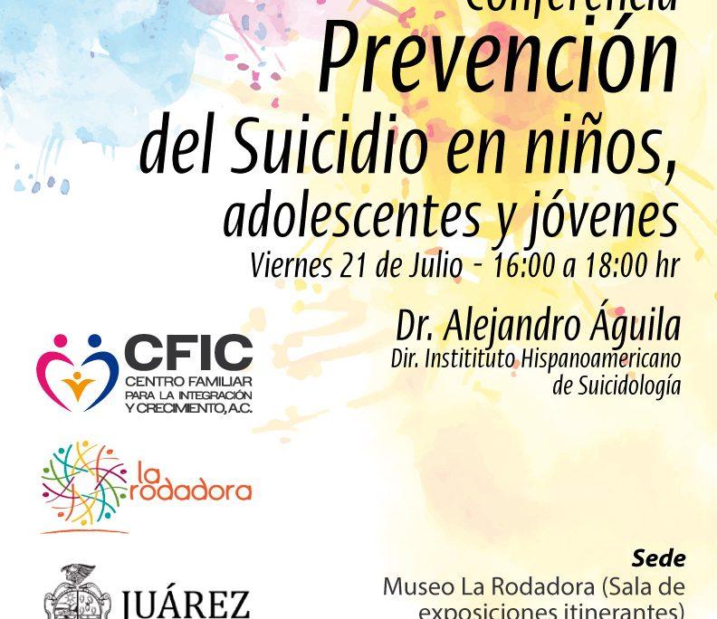 Conferencia prevencion suicidio Cd Juarez