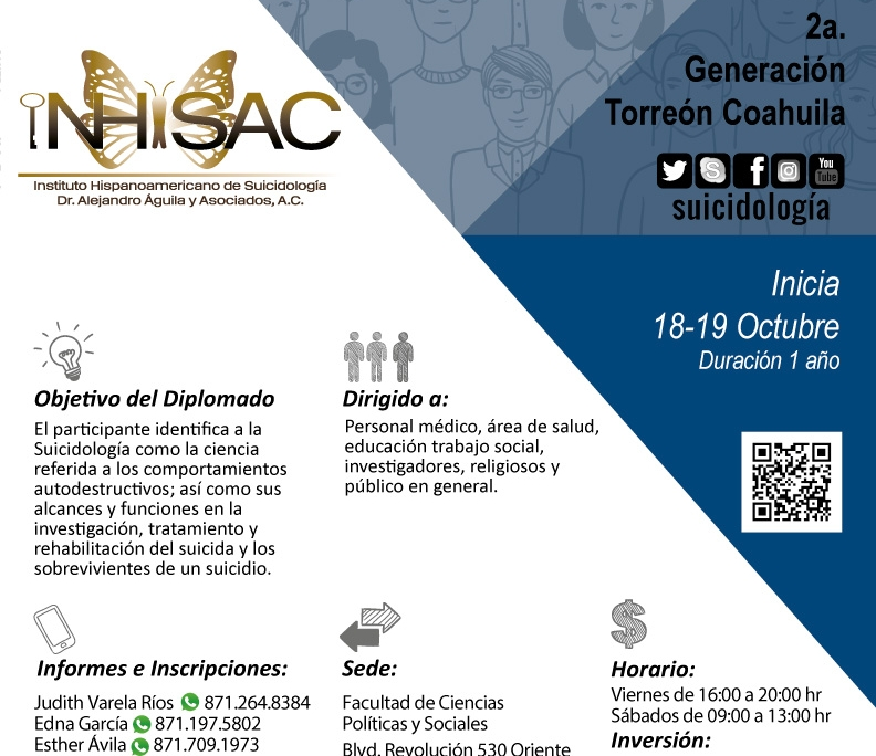 Diplomado Introduccion a la Suicidologia Sede Torreon